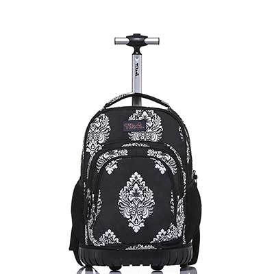 Tilami Rolling Backpack 18 inch Boys and Girls Laptop Backpack