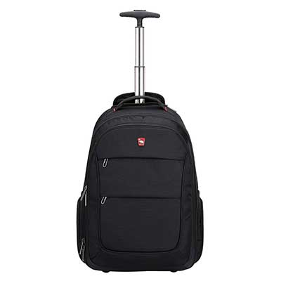 Rolling Backpack with Wheels for Women Men