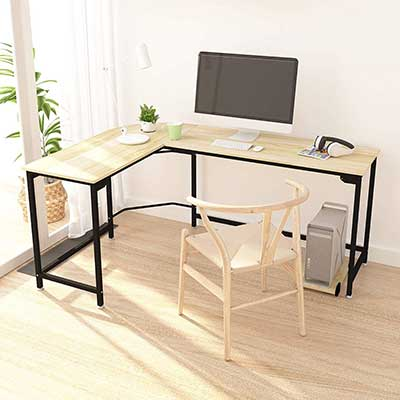 Hago Modern L- Shaped Desk Corner Computer Desk Home Office