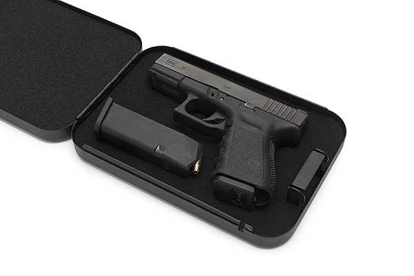 AdirOffice Portable Travel Gun Safe – Pistol Lock Box