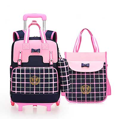 Meetbelify Rolling Backpacks for Girls School Bag