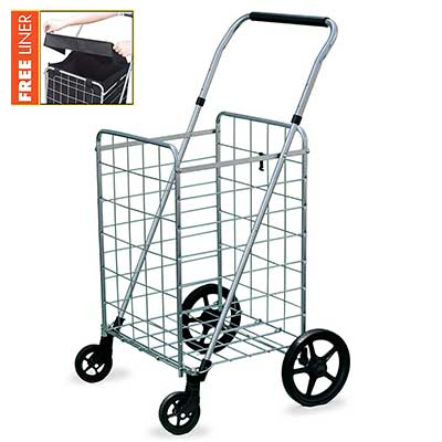 Wellmax Grocery Shopping Cart with Swivel Wheels