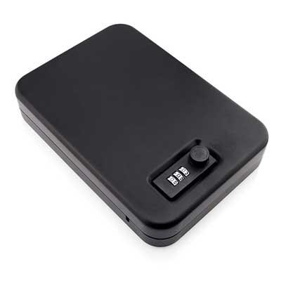 Portable Mini Safe Storage Box w/Combination Lock