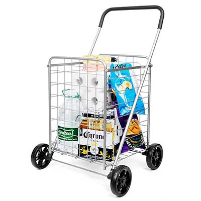 SUPENICE Durable Folding Grocery Shopping Cart