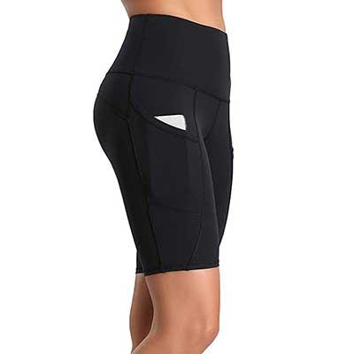 Oalka Women's Short Yoga Side Pockets