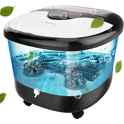 YUEBO Foot Spa with Heat, Massage & Bubbles Jets