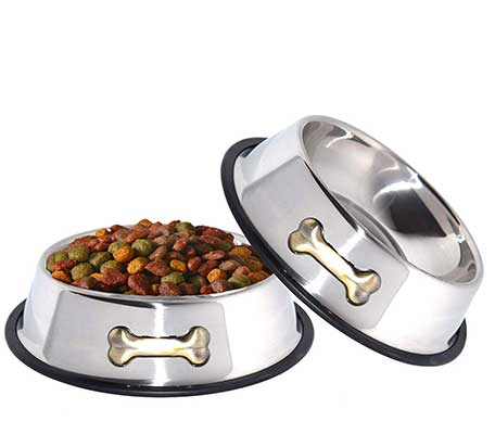 GPET Dog Bowl 32 Oz Stainless Steel Anti-Skid Bowl