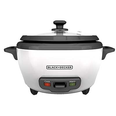 BLACK + DECKER RC5O6 6-Cup Cooked/Uncooked Rice Cooker
