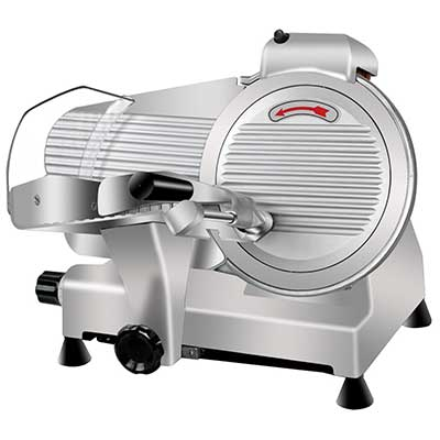 Super Deal Commercial Stainless Steel Meat Slicer