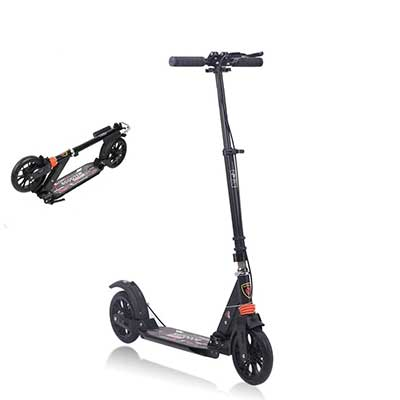 MONODEAL Adjustable Kick Scooter for Adults Teens