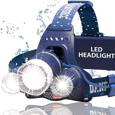 DanForce USB Rechargeable LED 1080 Lumens Head Lamp