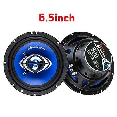 SPKFRIENDS SFV654 6.5-Inch 800 Watt Full-Range 4-Way Coaxial Speakers