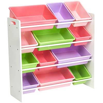 AmazonBasics Kids Toy Storage Organizer Bins