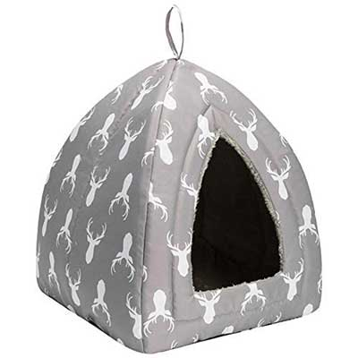 Hollypet Self-warming 2 in 1 Foldable Triangle Pet Bed