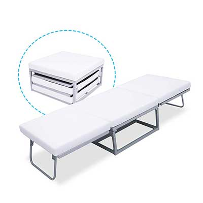 Triple Ottoman Folding Bed – Guest Bed Foam Mattress