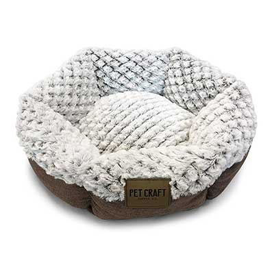 Pet Craft Supply Round Memory Foam Cat & Dog Bed