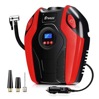Breez Tire Inflator, Air Compressor Pump
