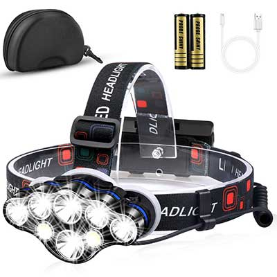 MOICO High 3100 Lumen 8 LED Headlight Flashlight