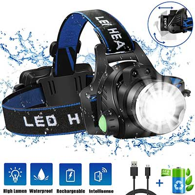 JLANG USB Rechargeable Led Head Lamp