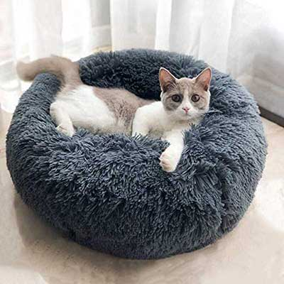 BODISEINT WonderKathy Soft Plush Round Pet Bed