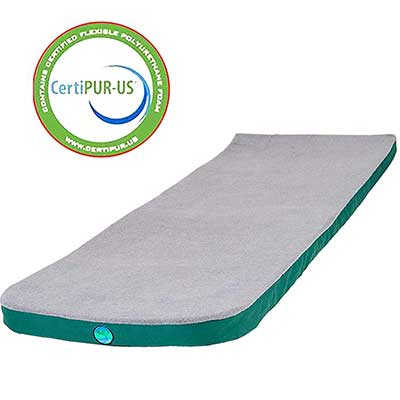 LaidBackPad Memory Foam Camping Mattress with Built-in Connector