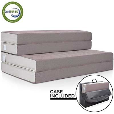 Best Choice Products 4in Thick Folding Portable Full Mattress Topper