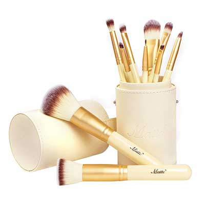 Matto 10-Piece Golden Makeup Brushes