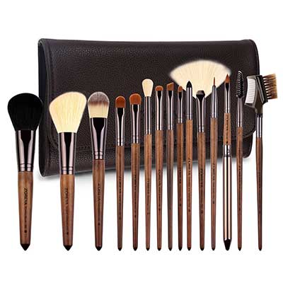 ZOREYA Makeup Walnut Professional Synthetic Brushes