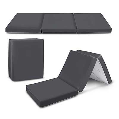 Cozzzi Trifold Foam Folding Mattress – Lightweight and Portable