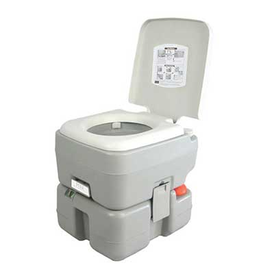 SereneLife Outdoor Portable Flush Toilet with Carry Bag