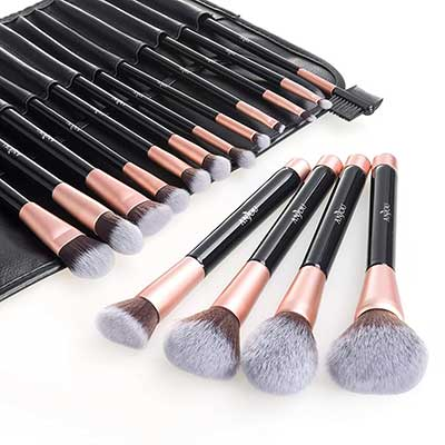 Anjou 16pcs Makeup Cosmetic Brush Set