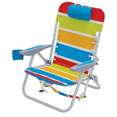 RIO Gear 4-Position Lace-Up Folding Beach Chair