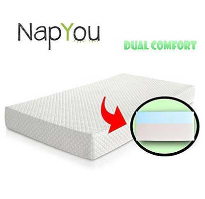 NapYou Dual Comfort Reversible Side Crib Mattress
