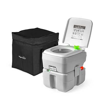 Alpcour Portable Compact Indoor & Outdoor Toilet