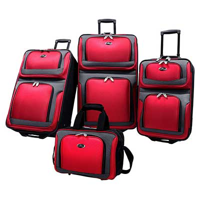 U.S. Traveler New Yorker Expandable Rolling Suitcase