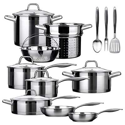 Duxtop SSIB-17 Pro Stainless Steel Induction Cookware Set