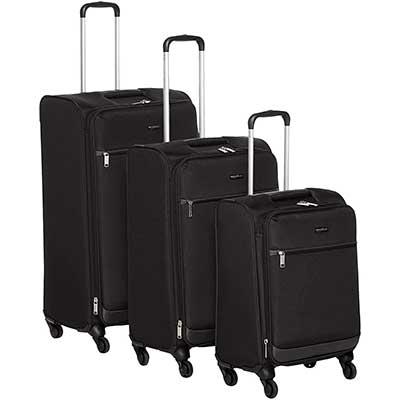AmazonBasics Softside Carry-On Spinner Luggage Suitcase