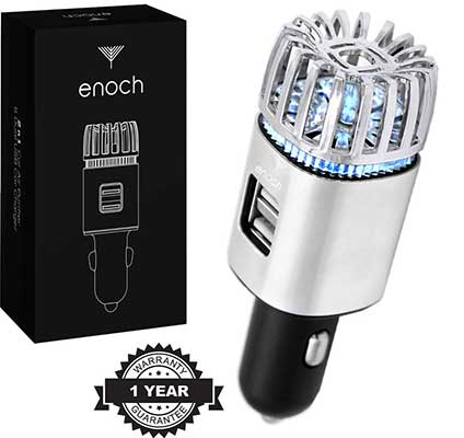 Enoch Car Air Freshener with USB Car Charger 2