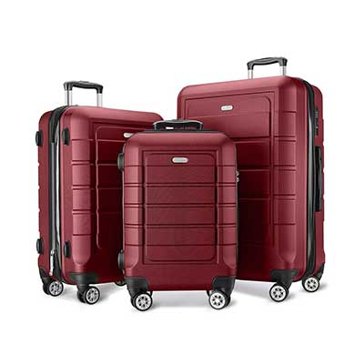 SHOWKOO Expandable PC+ABS Durable Suitcases