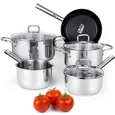 Viewee Set Stainless Steel Pots and Pans Sets