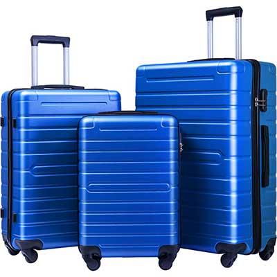 Flieks Luggage Sets Lightweight Spinner Suitcase