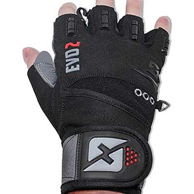 2. Skott Evo 2 Double-Stitched Gloves with Wrist Strap