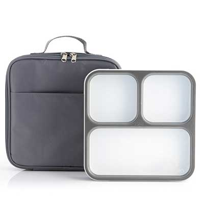 Modetro Ultra Slim 3 Compartments Leak Proof Bento Lunchbox