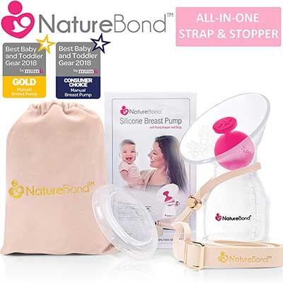 NatureBond Manual Silicone Breastfeeding Nursing Pump