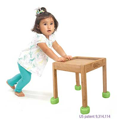 InspiraSpark No Wheels Spring Feet Activity Table