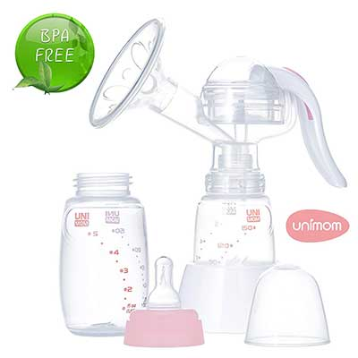 Unimom Manual Pump with Silicone Massaging Breast Shield