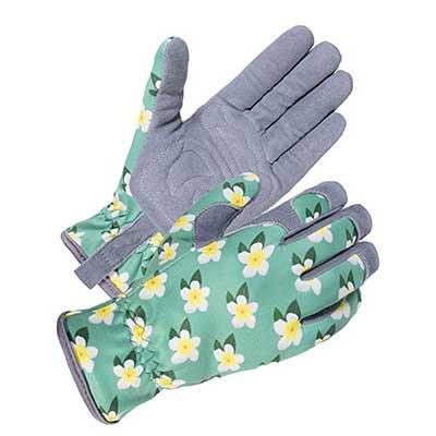 SKYDEER Gardening Gloves with Deerskin Leather Suede