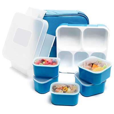 Fun Life 5 Compartment Insulated Leakproof Lunchbox
