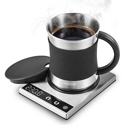 Cosori 24Watt Stainless Steel Coffee Mug Warmer & Mug Set