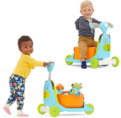 Skip Hop Kids 3-in-1 Baby & Ride-on Scooter Toy Dog